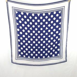 Vintage Accessories - Vintage Silk Cheva Lier Geometric Scarf